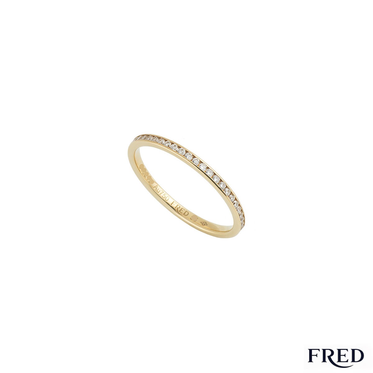 Fred Yellow Gold Full Diamond Eternity Ring 0.32ct G+/VS+